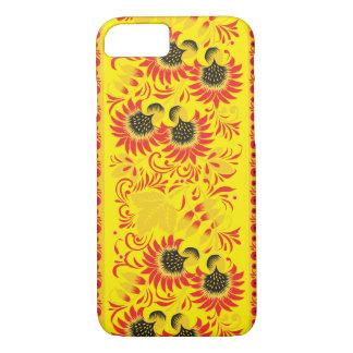 Vibrant Yellow Hohloma iPhone 7 Case