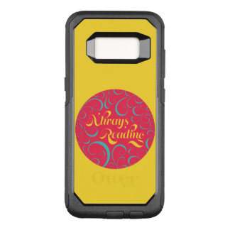 Vibrant Yellow, Pink Bookish Always Reading OtterBox Commuter Samsung Galaxy S8 Case