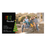 Vibrante Feliz Navidad Foto Christmas Card Photo Cards