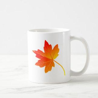 Vibrantly Colorful Orange Autumn/Fall Maple Leaf Mug