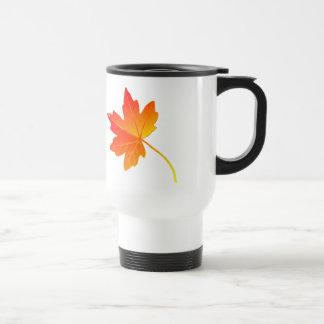 Vibrantly Colorful Orange Autumn/Fall Maple Leaf Coffee Mugs