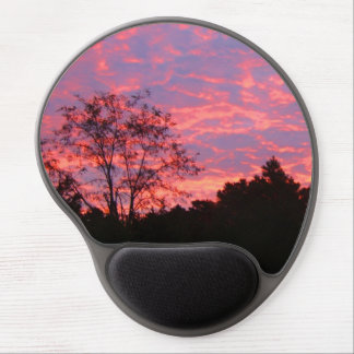 Vibrantly Pink Sunrise Gel Mouse Pad