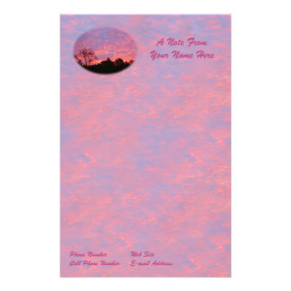 Vibrantly Pink Sunrise Stationery