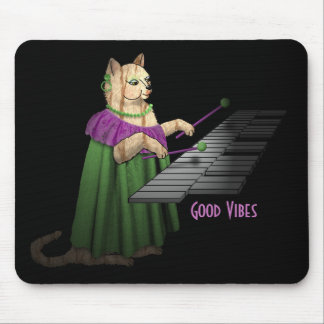 Vibraphone Played by Cat for Good Vibes Mouse Pad