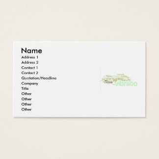 Vibrato & Flute Tools Business Cards