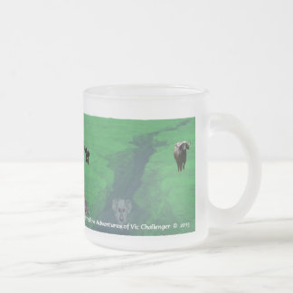 Vic Challenger morphing cup Time Doesn't Matter 10 Oz Frosted Glass Coffee Mug