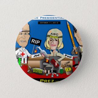Vice Presidential Debate 6 Cm Round Badge