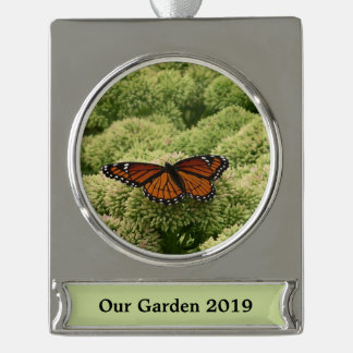 Viceroy Butterfly Beautiful Nature Photography Silver Plated Banner Ornament