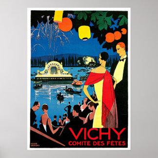 Vichy Comite Des Fetes France Travel Art Print