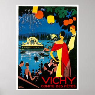 Vichy comite des fetes Vintage Travel Poster