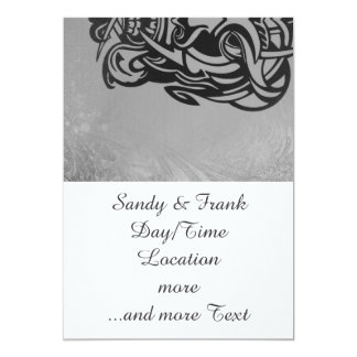 """Vicious Tribal Mask silver frosty 007 5"""" X 7"""" Invitation Card"""
