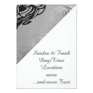 Vicious Tribal Mask silver frosty 007 5x7 Paper Invitation Card
