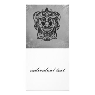 Vicious Tribal Mask silver frosty 007 Picture Card