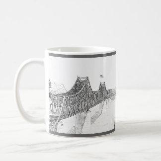 Vicksburg, Mississippi Iron River Bridge Sketch Mugs