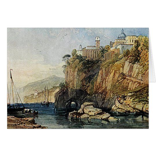 Vico, Bay of Naples - Watercolor Painting Card