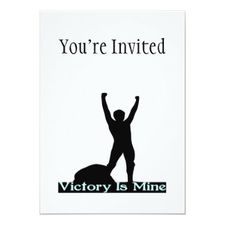 Vicotry Is Mine 13 Cm X 18 Cm Invitation Card