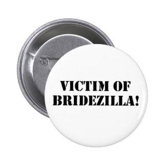 Victim of Bridezilla black Button