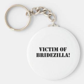 Victim of Bridezilla black Keychain