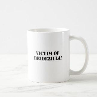 Victim of Bridezilla black Coffee Mugs