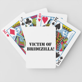 Victim of Bridezilla black Deck Of Cards