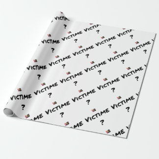 VICTIM? - Word games - François City Wrapping Paper