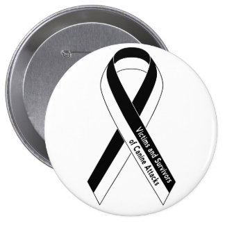Victims and Survivors of Canine Attacks 10 Cm Round Badge