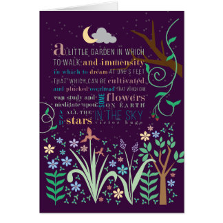 Victor Hugo Flower Quote Greeting Card