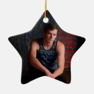 Victor Neil Jones senior pictures Ceramic Star Decoration