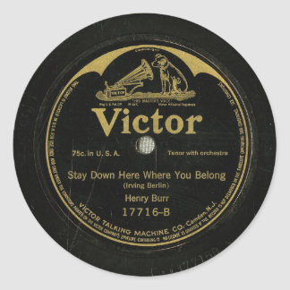 Victor Vintage Antique Record Sticker