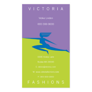 Victoria-Blue Business Card Templates