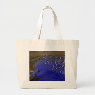 Victoria Crowned Pigeon Tropical Bird Large Tote Bag