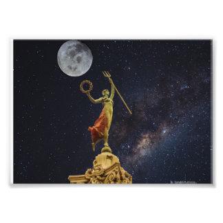 Victoria dances to celestial music photo print