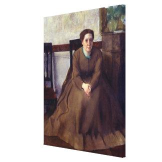 Victoria Dubourg  by Edgar Degas Canvas Print