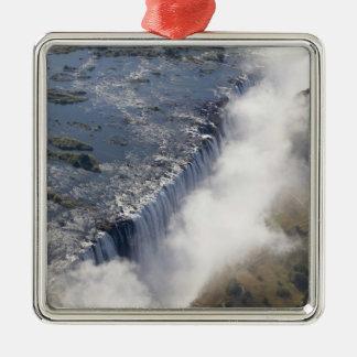 Victoria Falls, Zambesi River, Zambia - Silver-Colored Square Decoration