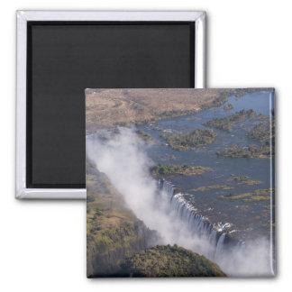 Victoria Falls, Zambesi River, Zambia - Zimbabwe Square Magnet