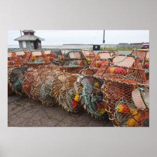 Victoria Prince Edward Island Crab pots Posters