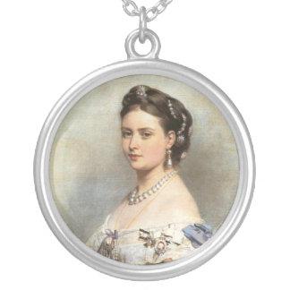 Victoria, Princess Royal Round Pendant Necklace