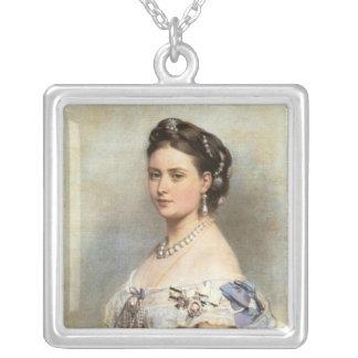 Victoria, Princess Royal Square Pendant Necklace