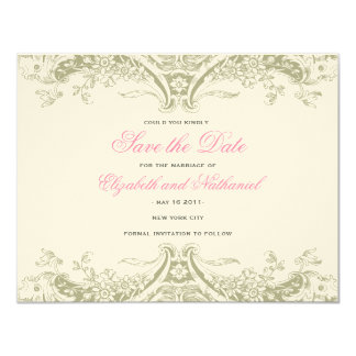 Victoria Save the Date in Grey Card