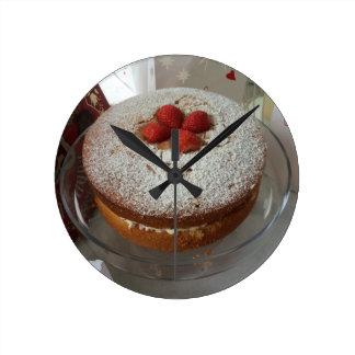 Victoria Sponge Cake Wall Clock