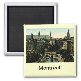 Victoria Square, Montreal Vintage Square Magnet