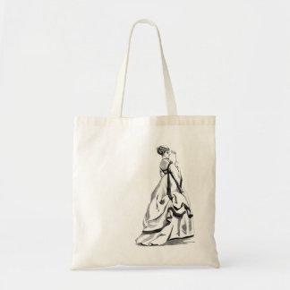 Victorian 3D Masquerade Tote Budget Tote Bag