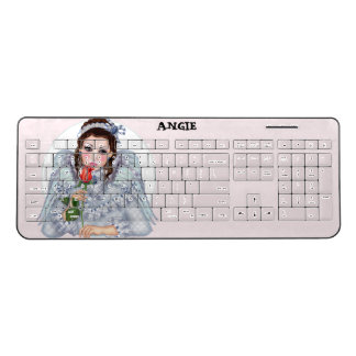 VICTORIAN ANGEL Custom Wireless Keyboard 2
