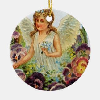 Victorian Angel Round Ornament