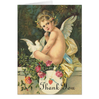 Victorian Angel Thank You Card