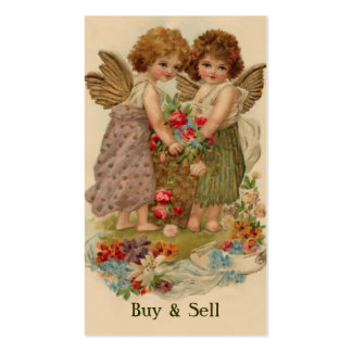 victorian angels pack of standard business cards