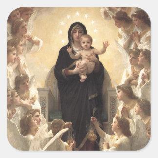 Victorian Angels, Regina Angelorum by Bouguereau Square Sticker