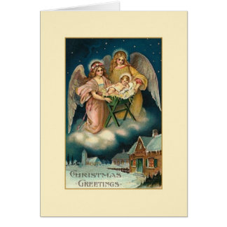 Victorian Angels Religious Christmas Card