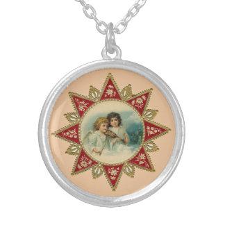 Victorian Angels Round Necklace