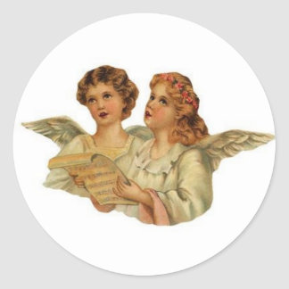 Victorian Angels singing stickers